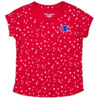 Champion Girls' Short Sleeve All Over Star Print Tee Shirt from Blain's Farm and Fleet