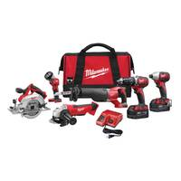 Milwaukee M18 Cordless 6-Tool Combo Kit from Blain's Farm and Fleet