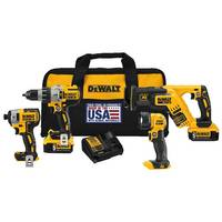 DEWALT 20V MAX XR Brushless Premium 4 Tool Kit (5.0 AH) from Blain's Farm and Fleet