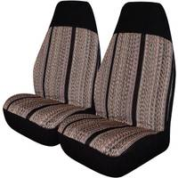 Allison 2-Piece Black Saddle Blanket Universal Bucket Seat Covers from Blain's Farm and Fleet