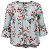 Colette Lilly Girls' Scoop Neck 3/4-Sleeve Flounce Swing Top from Blain's Farm and Fleet