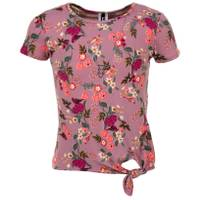 Colette Lilly Girls' Neck Short Sleeve Side Tie Top with Necklace from Blain's Farm and Fleet