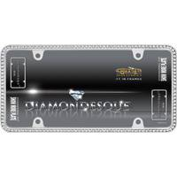 Cruiser Accessories Chrome & Clear Diamondesque License Plater Holder from Blain's Farm and Fleet