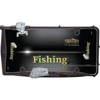 Cruiser Accessories Black Chrome & Chrome Fishing License Plater Holder from Blain's Farm and Fleet