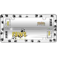 Cruiser Accessories Chrome Paws License Plater Holder from Blain's Farm and Fleet