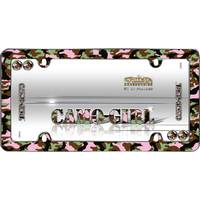 Cruiser Accessories Camo-Girl Chrome with Fastener Caps License Plater Holder from Blain's Farm and Fleet