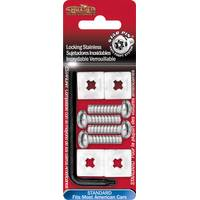 Cruiser Accessories Stainless Star Pin Locking License Plate Fasteners from Blain's Farm and Fleet