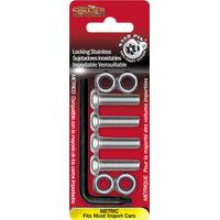 Cruiser Accessories Stainless Star Pin  Metric Locking License Plate Fasteners from Blain's Farm and Fleet