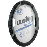 Custom Accessories EZ Stretch Custom Grip Black & Grey Super Sport Steering Wheel Cover from Blain's Farm and Fleet