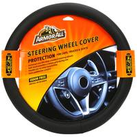 Armor All Fat Boy Black Steering Wheel Cover from Blain's Farm and Fleet