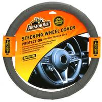 Armor All Fat Boy Grey Leather Steering Wheel Cover from Blain's Farm and Fleet