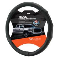 Masque Truck Black Leather Steering Wheel Cover from Blain's Farm and Fleet