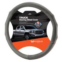 Masque Truck Grey Leather Steering Wheel Cover from Blain's Farm and Fleet