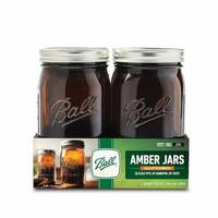 Ball 4-Count Amber Wide Mouth Quart Jar from Blain's Farm and Fleet