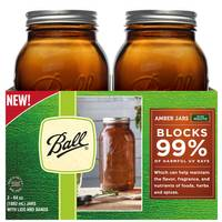 Ball 2-Count Amber Wide Mouth Half Gallon Jar from Blain's Farm and Fleet