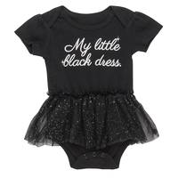 Carter's Baby Girls' Black My Little Black Bodysuit from Blain's Farm and Fleet
