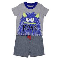 Carter's Little Boys' 2-Piece Short Set Hairy Monster Blue from Blain's Farm and Fleet