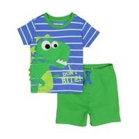 Carhartt Boys'  Green 2-Piece Dino Dont Bite Short Set from Blain's Farm and Fleet