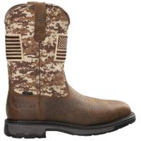 ARIAT Men's Brown Workhog Patriot Steel Toe Work Boots from Blain's Farm and Fleet