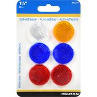 Hillman 12-Pack 1 1/4 Self Adhesive Mini Reflectors from Blain's Farm and Fleet