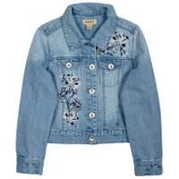 Squeeze Kids Big Girls' Floral Embroidered Denim Jacket Light Wash from Blain's Farm and Fleet