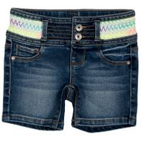 Squeeze Kids Little Girls' Multi Colored Waist Short Dark Wash from Blain's Farm and Fleet