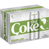 Coca-Cola 8-Pack 12 oz Ginger Lime Diet Coke from Blain's Farm and Fleet