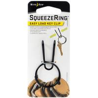 Nite Ize SqueezeRing Easy Load Key Clip-Black from Blain's Farm and Fleet