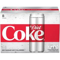 Coca-Cola 8-Pack 12 oz Sleek Diet Coke from Blain's Farm and Fleet