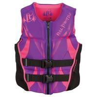 Full Throttle Women's Purple Hinged Rapid-Dry Flex-Back Life Vest from Blain's Farm and Fleet