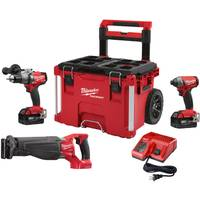 Milwaukee M18 Fuel 3-Piece Combo Kit with Packout Rolling Box from Blain's Farm and Fleet