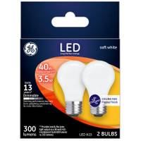 GE Soft White 4 W LED A15 2-Pack from Blain's Farm and Fleet