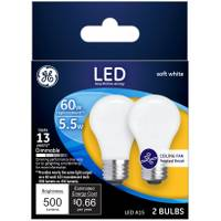 GE Soft White 5 W LED A15 2-Pack from Blain's Farm and Fleet