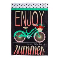 Evergreen Enterprises Summer Bicycle Garden Flag from Blain's Farm and Fleet