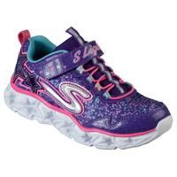 Skechers Girls' Purple Lighted Galaxy Lights Shoes from Blain's Farm and Fleet