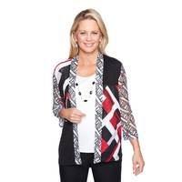 Alfred Dunner Women's Mix Media 2 Top from Blain's Farm and Fleet