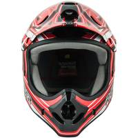 Raider Youth Red & Black Graphic Printed MX Helmet from Blain's Farm and Fleet