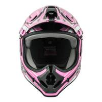 Raider Youth Pink & Black Graphic Printed MX Helmet from Blain's Farm and Fleet