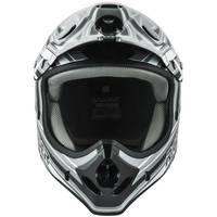Raider Adult Gray & Black Graphic Printed MX Helmet from Blain's Farm and Fleet
