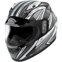 Raider Adult Black & Silver Octane Full Face Helmet from Blain's Farm and Fleet