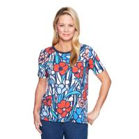 Alfred Dunner M MS S/S Stained Glass Knit -Q from Blain's Farm and Fleet