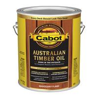 Cabot 1 Gallon Mahogany Flame Australian Timber Oil Based Outdoor Stain from Blain's Farm and Fleet