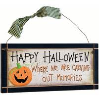 Timeless by Design Carving Out Memories Halloween Sign from Blain's Farm and Fleet