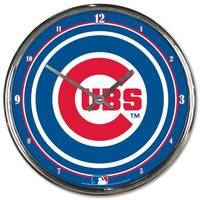MLB Chicago Cubs Chrome Clock from Blain's Farm and Fleet