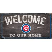 MLB Chicago Cubs Welcome Home Sign from Blain's Farm and Fleet