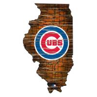 MLB Chicago Cubs State Shaped Sign from Blain's Farm and Fleet