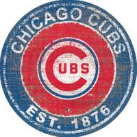 MLB Chicago Cubs Heritage Logo Round Sign from Blain's Farm and Fleet