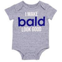 Baby Starters Infant Boys' Blue I Make Bald Look Good Bodysuit from Blain's Farm and Fleet