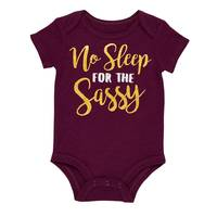 Baby Starters Infant Girls' Burgundy No Sleep For The Sassy Top from Blain's Farm and Fleet