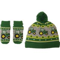 John Deere Toddler Boys' Green Tractor Hat & Mitten Set from Blain's Farm and Fleet